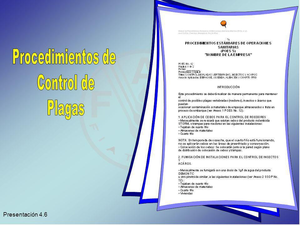 Procedimientos de Control de Plagas Presentación 4.6