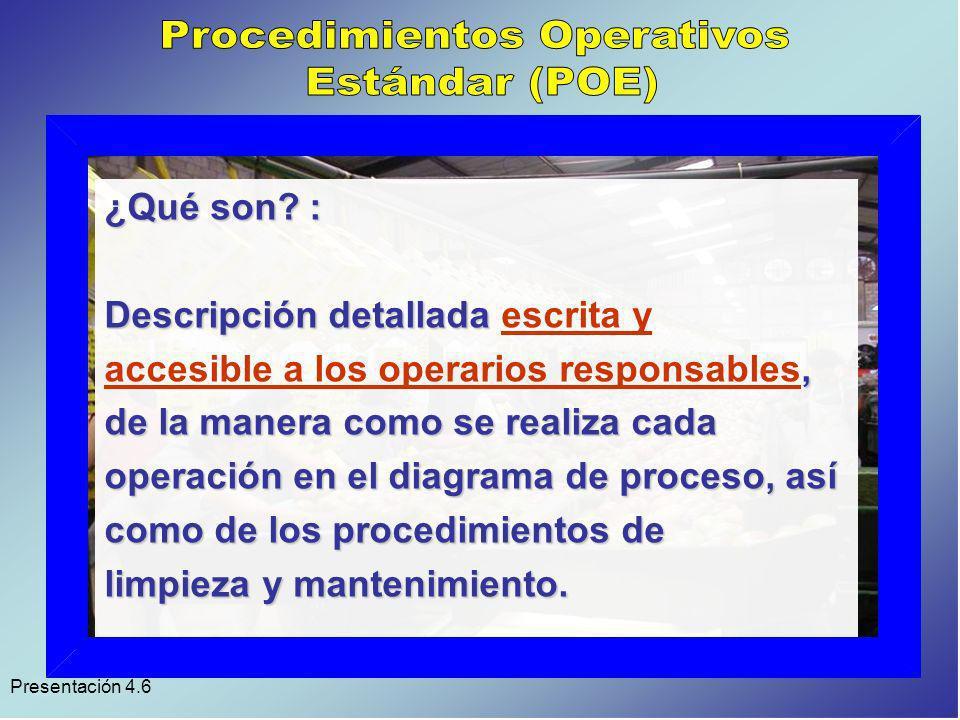 Procedimientos Operativos