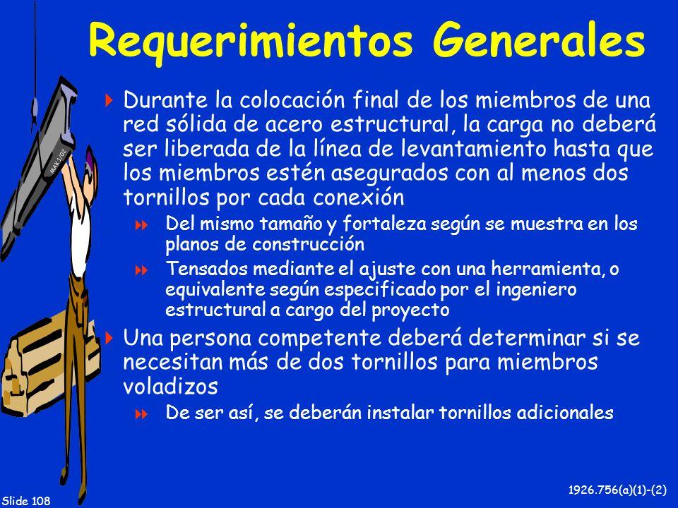 Requerimientos Generales