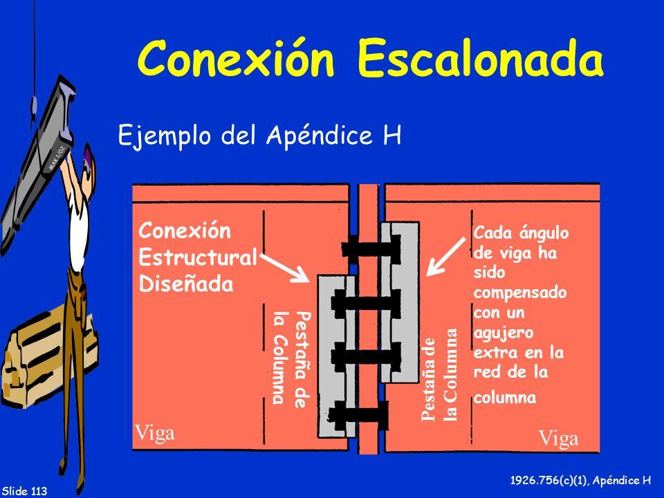 Conexión Escalonada Ejemplo del Apéndice H Conexión Estructural