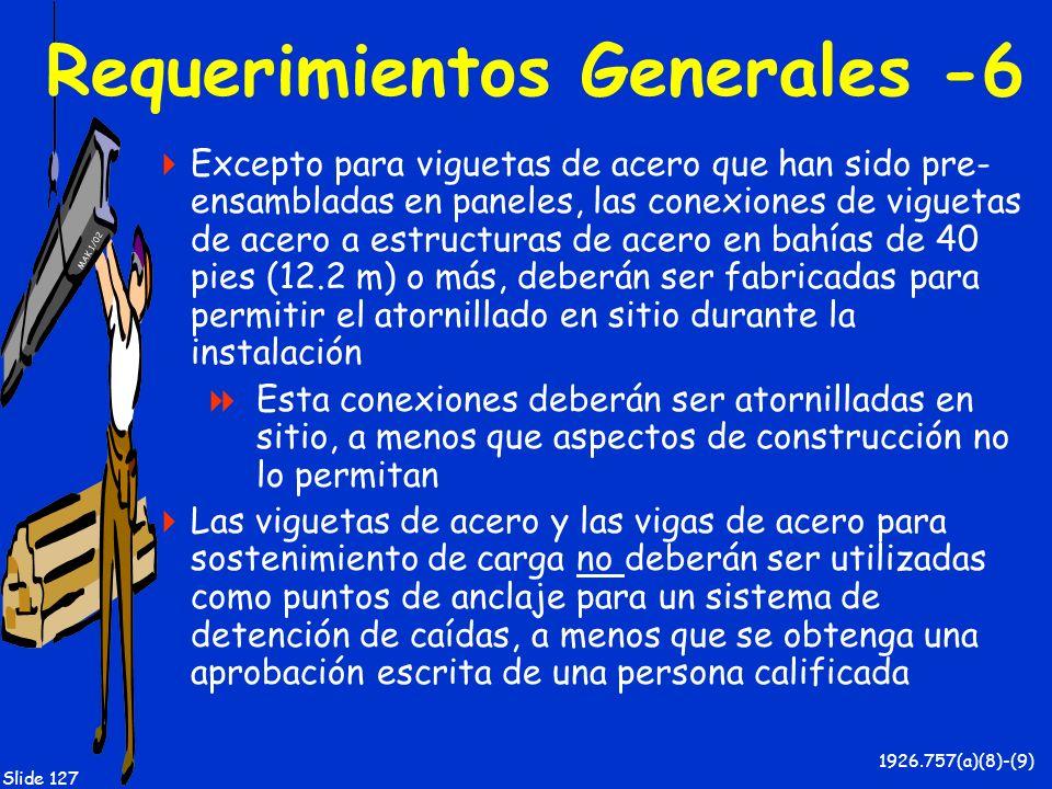 Requerimientos Generales -6