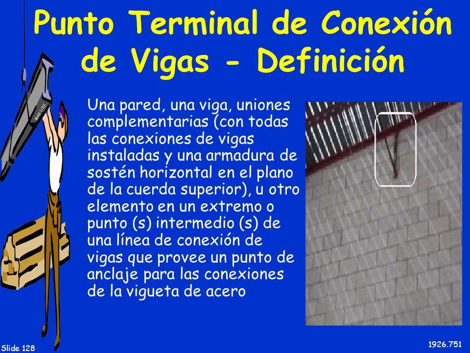 Punto Terminal de Conexión de Vigas - Definición