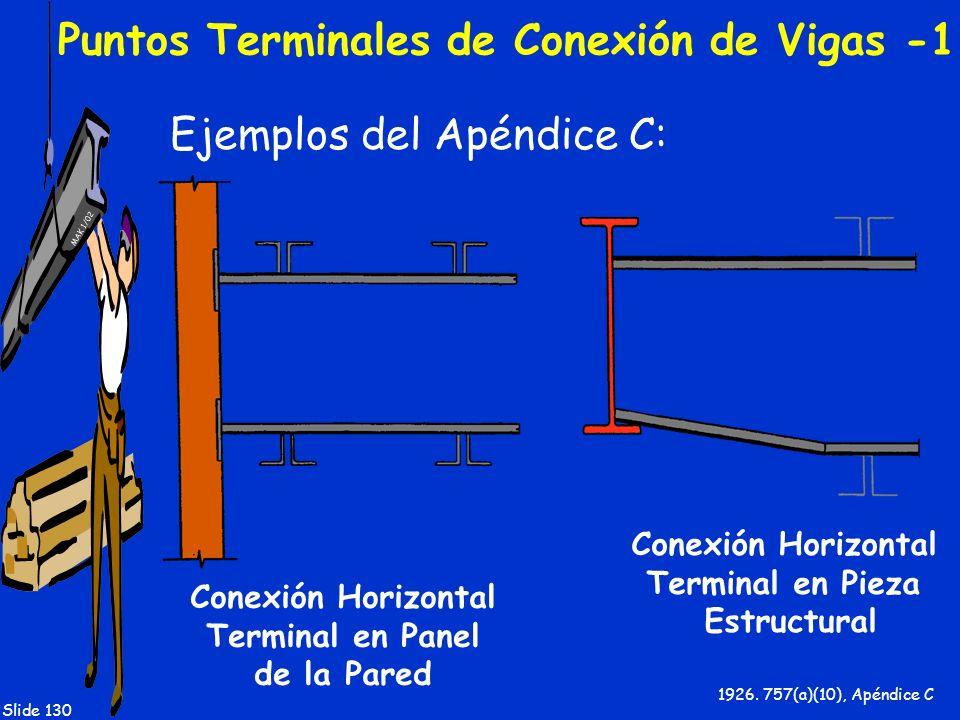 Puntos Terminales de Conexión de Vigas -1