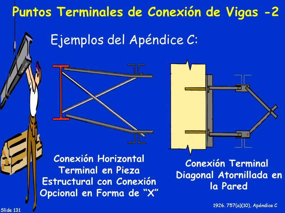 Puntos Terminales de Conexión de Vigas -2