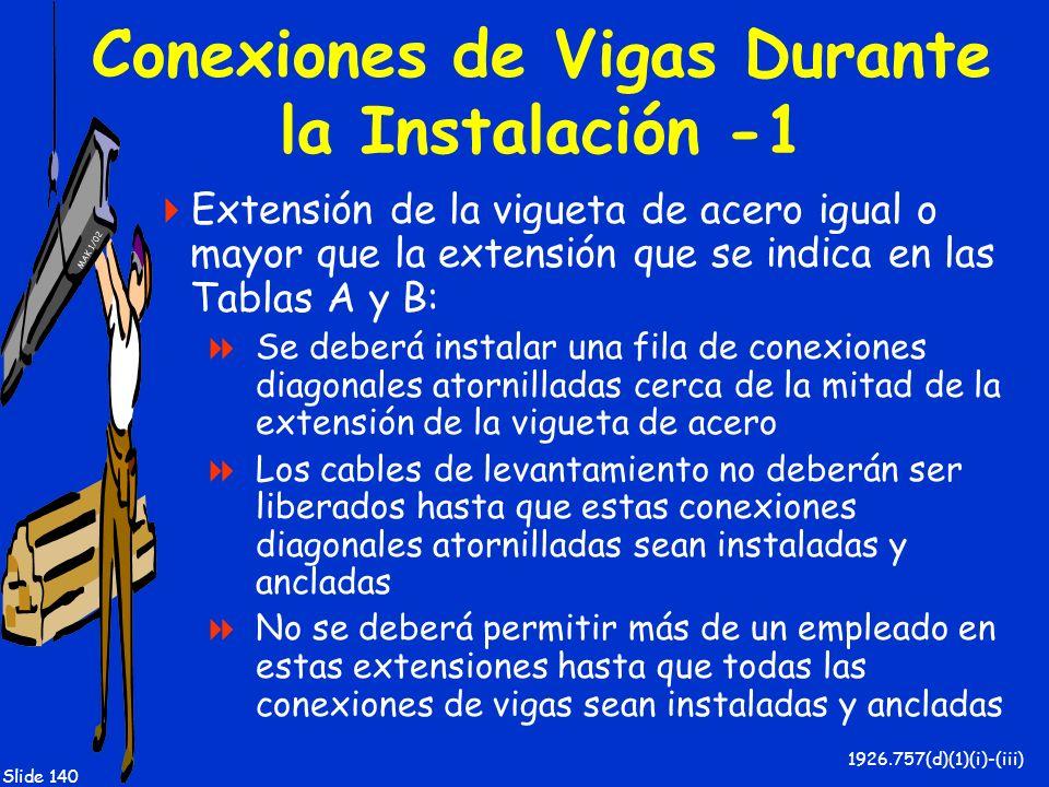 Conexiones de Vigas Durante la Instalación -1