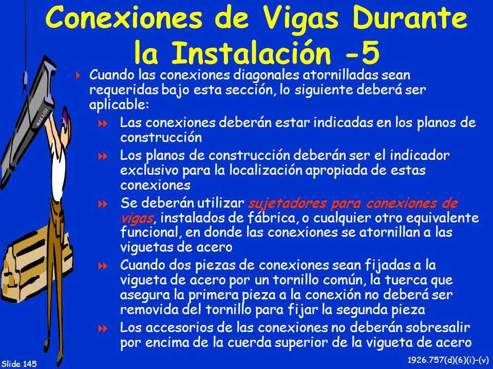 Conexiones de Vigas Durante la Instalación -5
