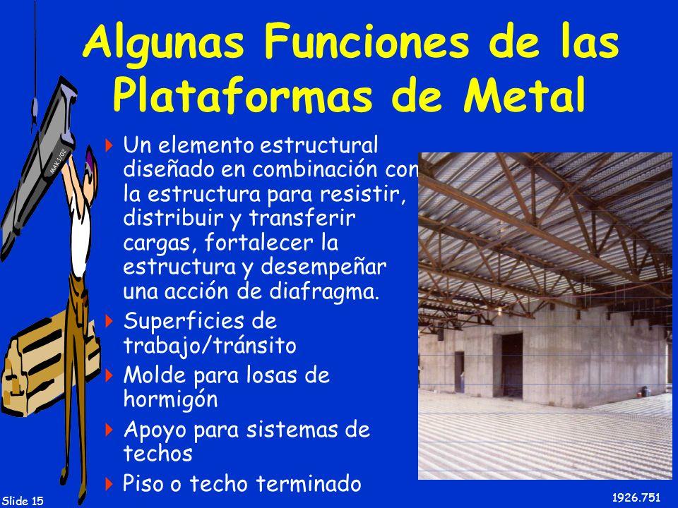 Algunas Funciones de las Plataformas de Metal