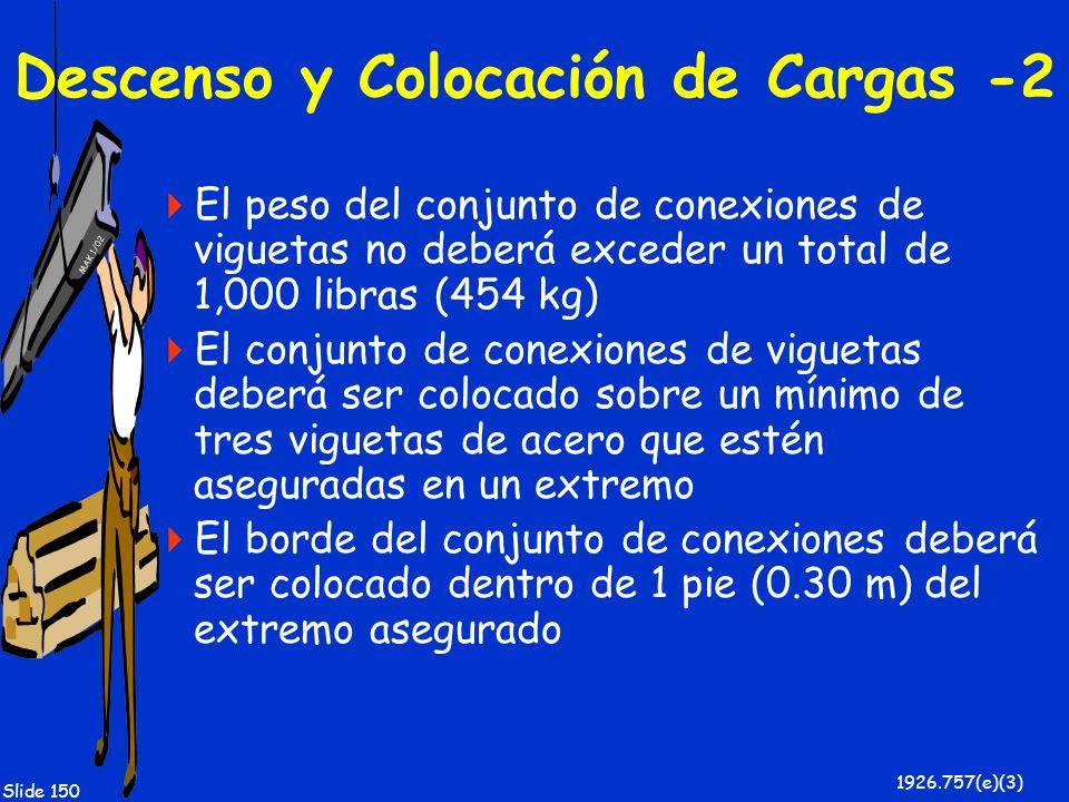 Descenso y Colocación de Cargas -2