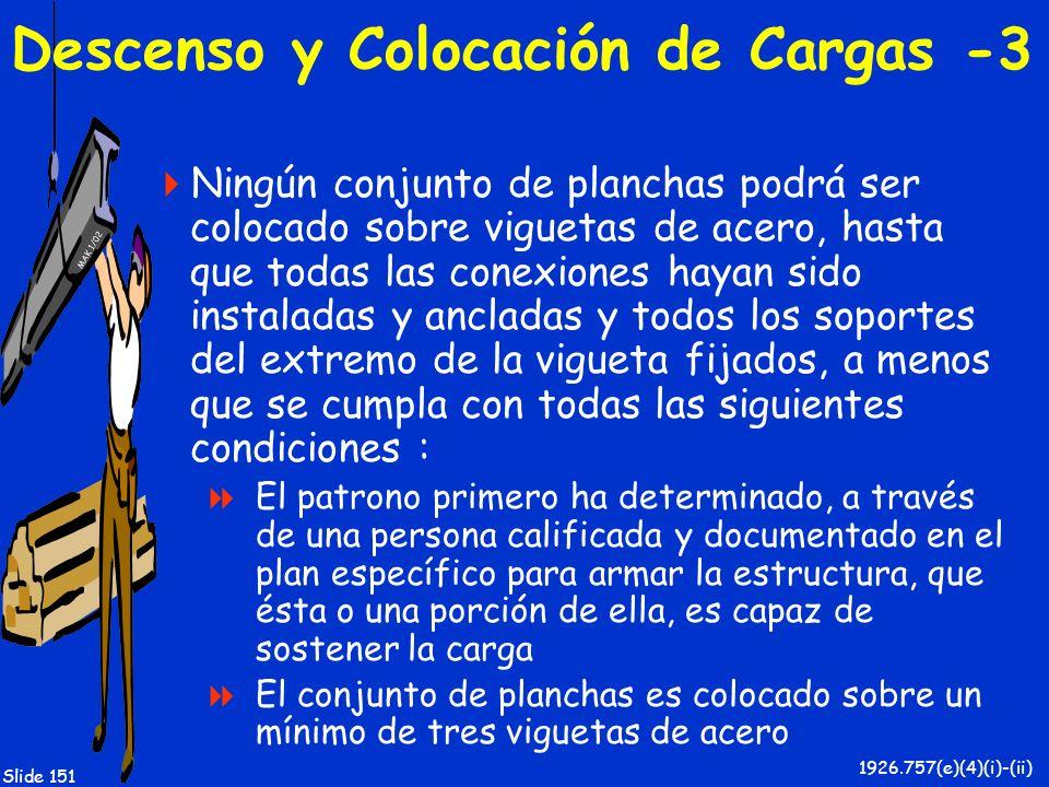 Descenso y Colocación de Cargas -3