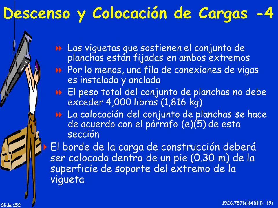 Descenso y Colocación de Cargas -4