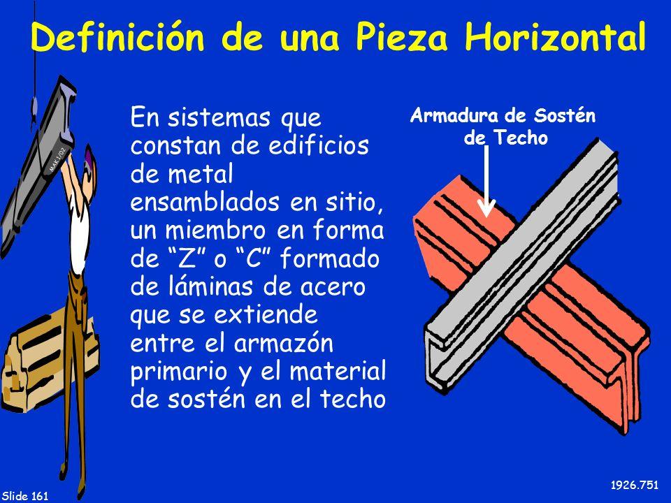 Definición de una Pieza Horizontal