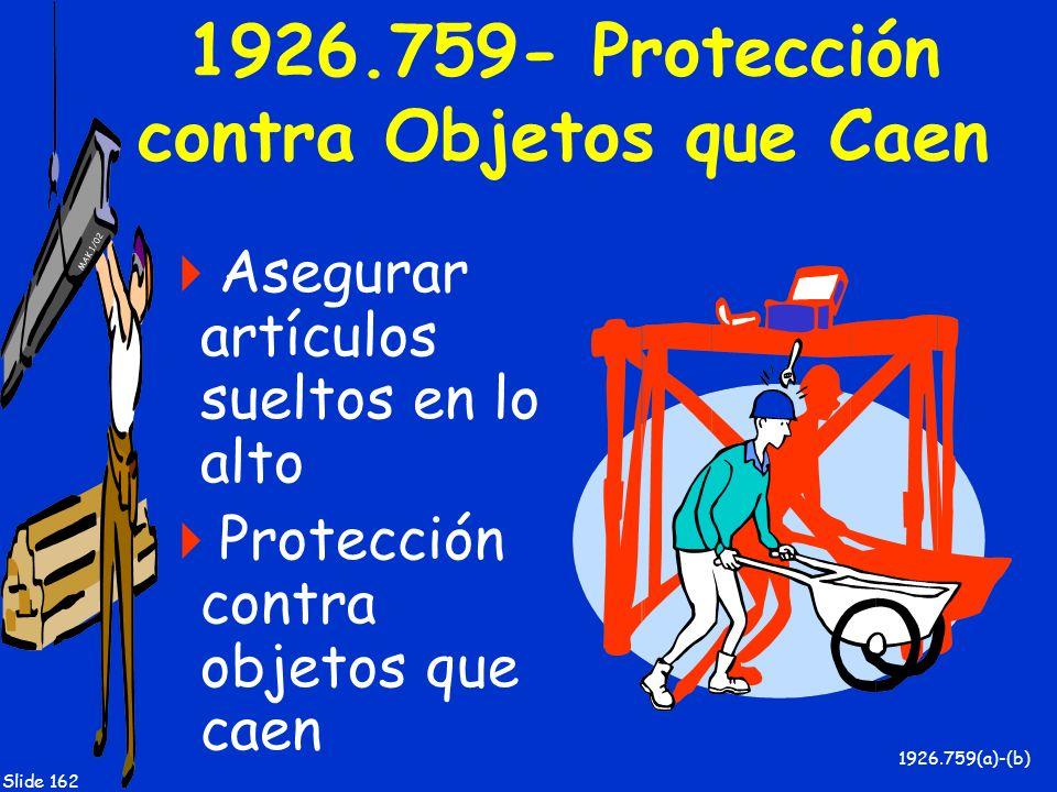 1926.759- Protección contra Objetos que Caen