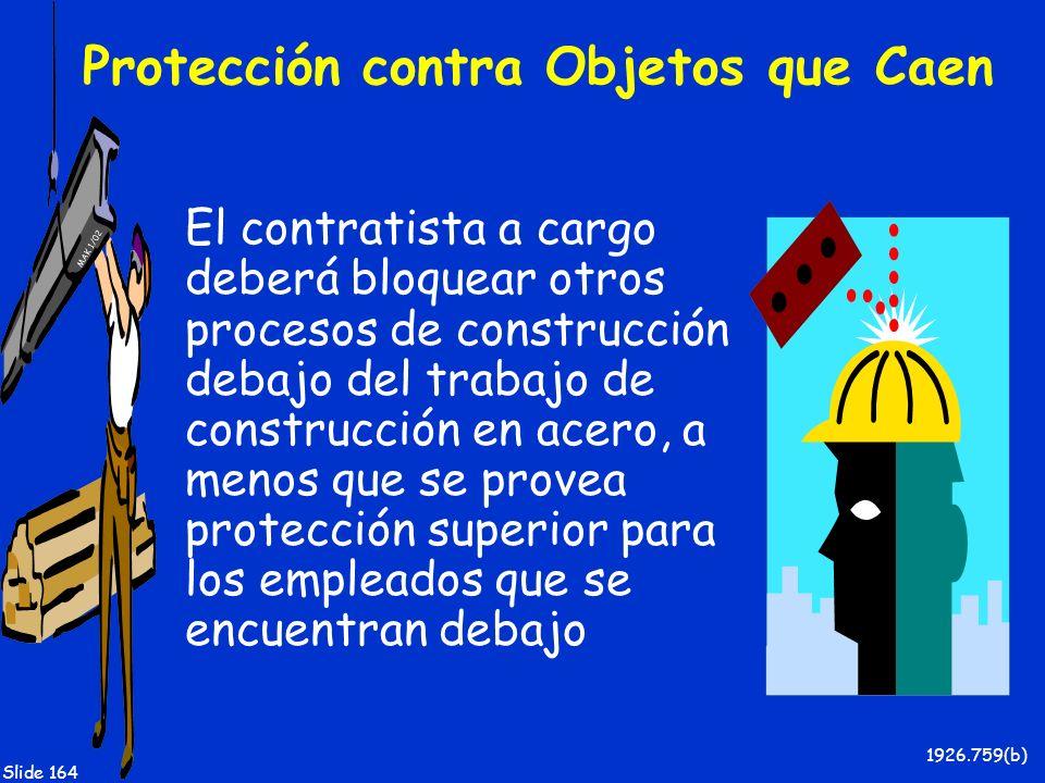 Protección contra Objetos que Caen