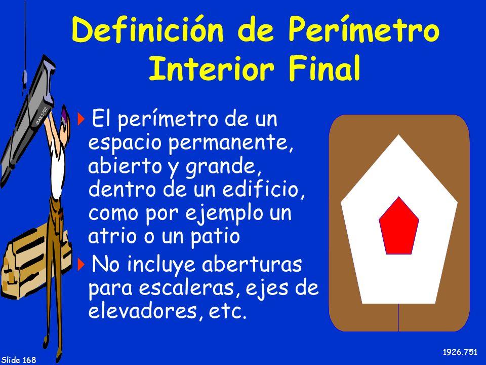Definición de Perímetro Interior Final