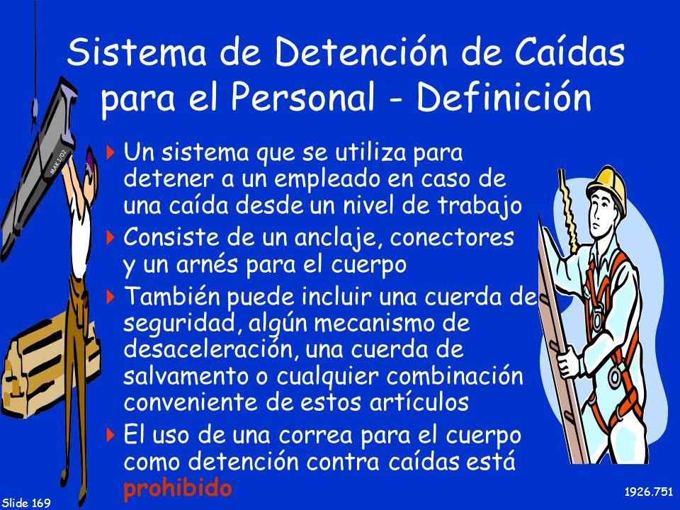 Sistema de Detención de Caídas para el Personal - Definición