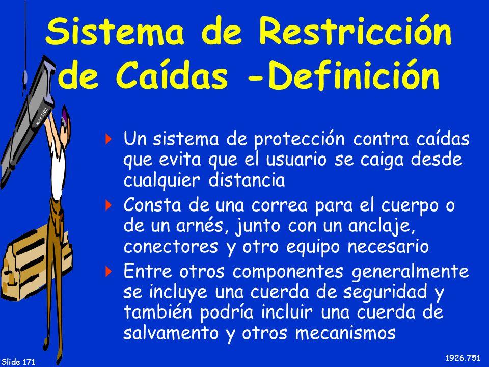 Sistema de Restricción de Caídas -Definición