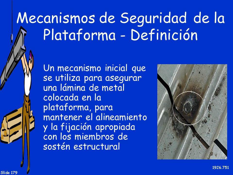 Mecanismos de Seguridad de la Plataforma - Definición