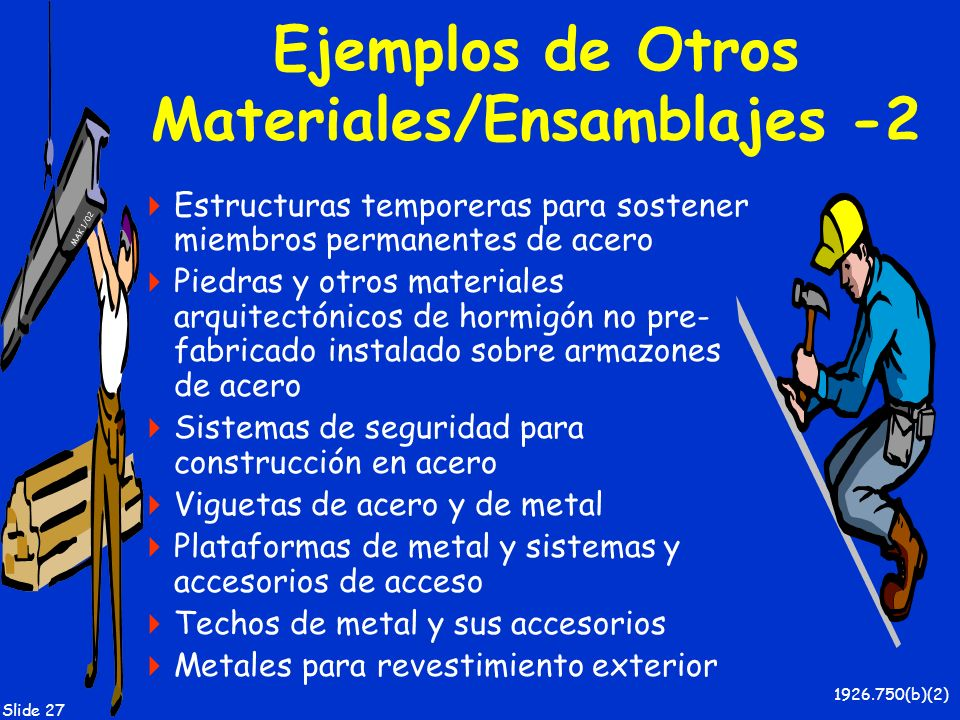 Ejemplos de Otros Materiales/Ensamblajes -2