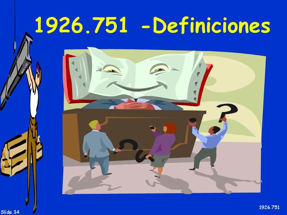 1926.751 -Definiciones 1926.751