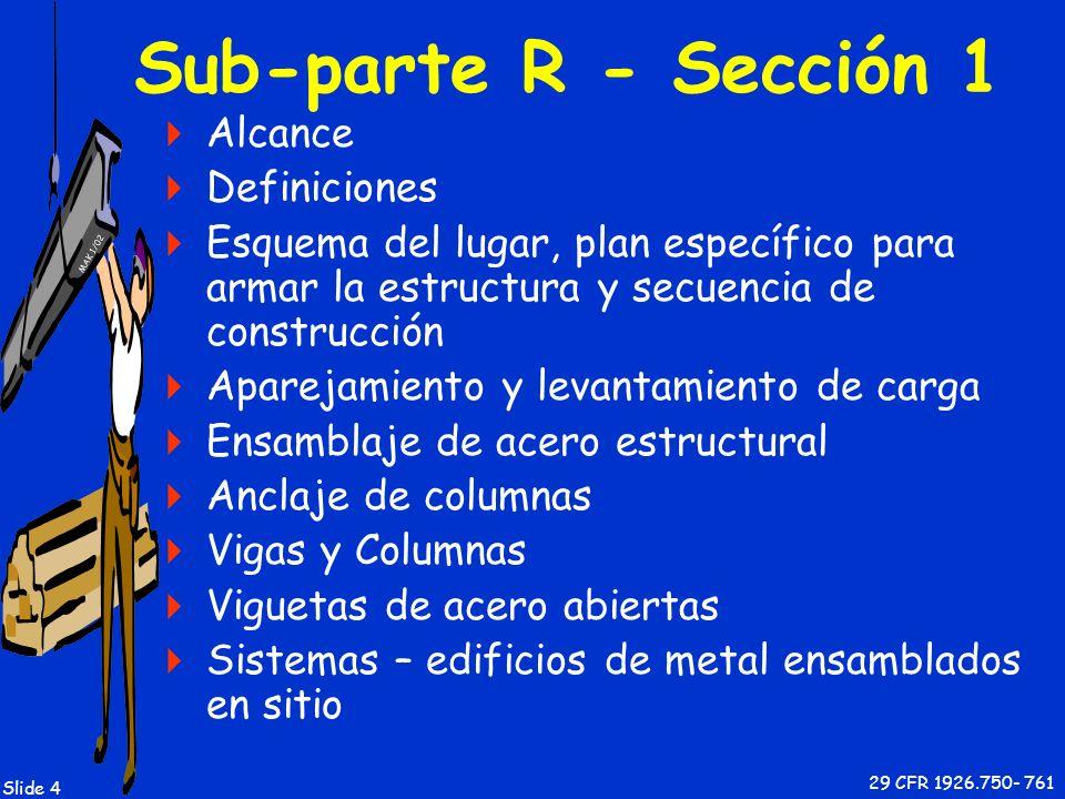 Sub-parte R - Sección 1 Alcance Definiciones