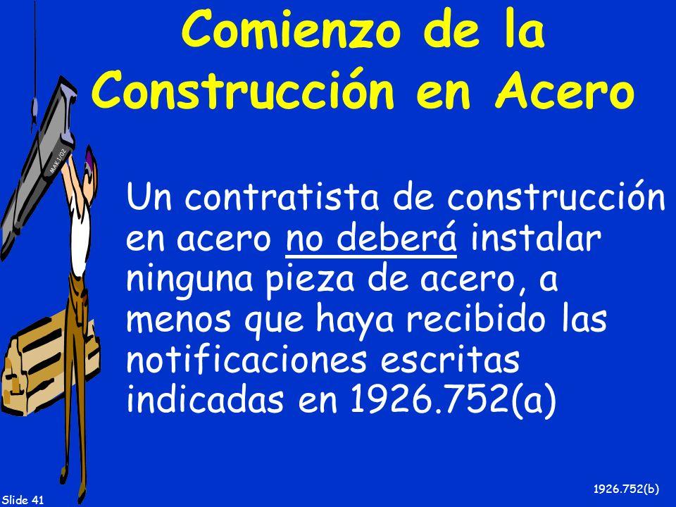 Comienzo de la Construcción en Acero