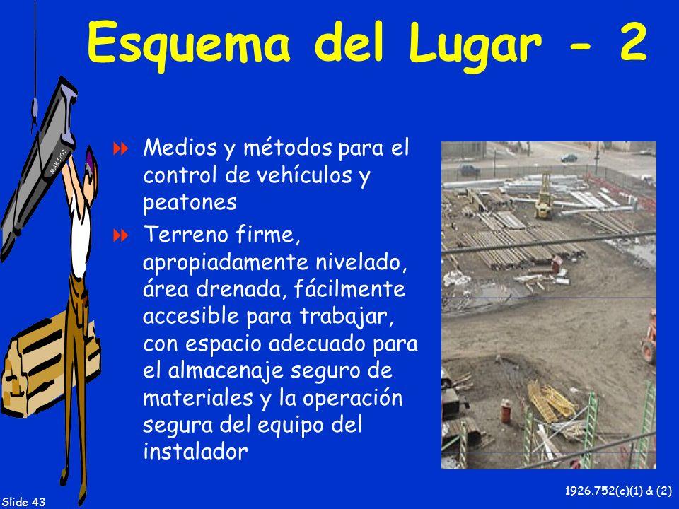 Esquema del Lugar - 2 Medios y métodos para el control de vehículos y peatones.