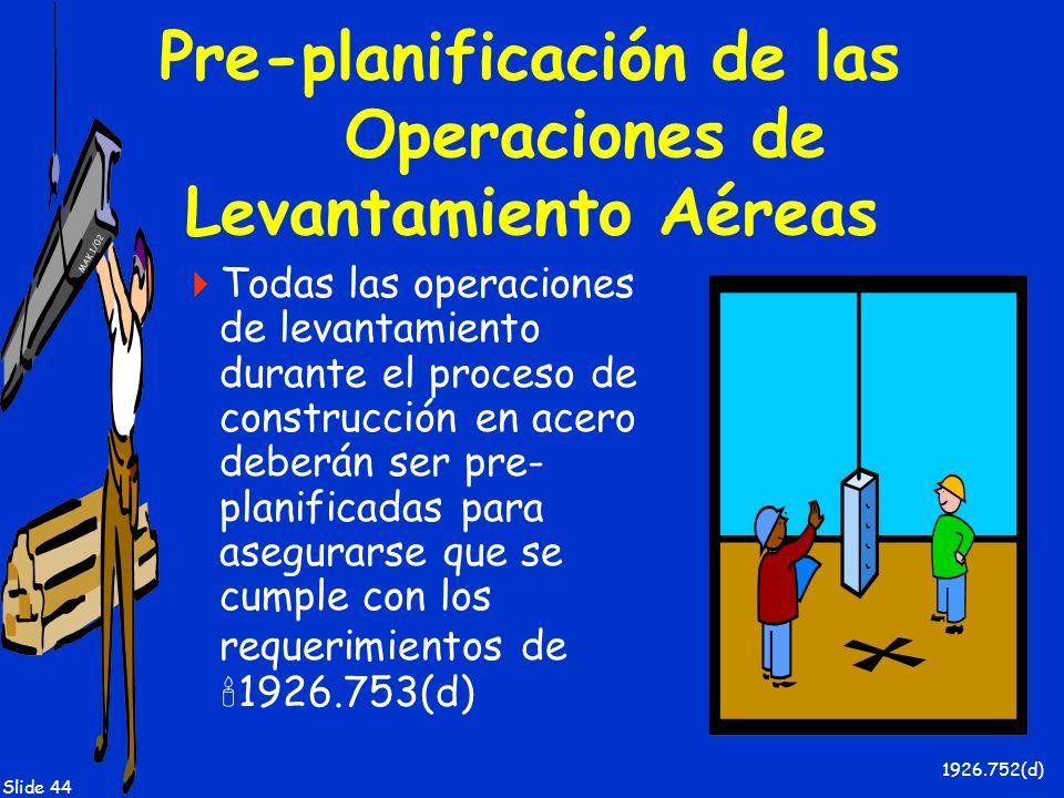 Pre-planificación de las Operaciones de Levantamiento Aéreas