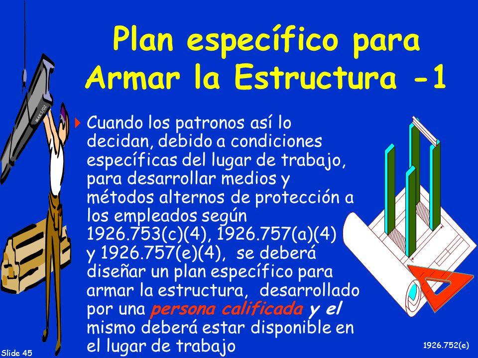 Plan específico para Armar la Estructura -1