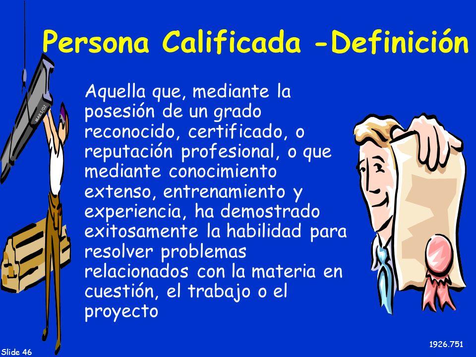 Persona Calificada -Definición
