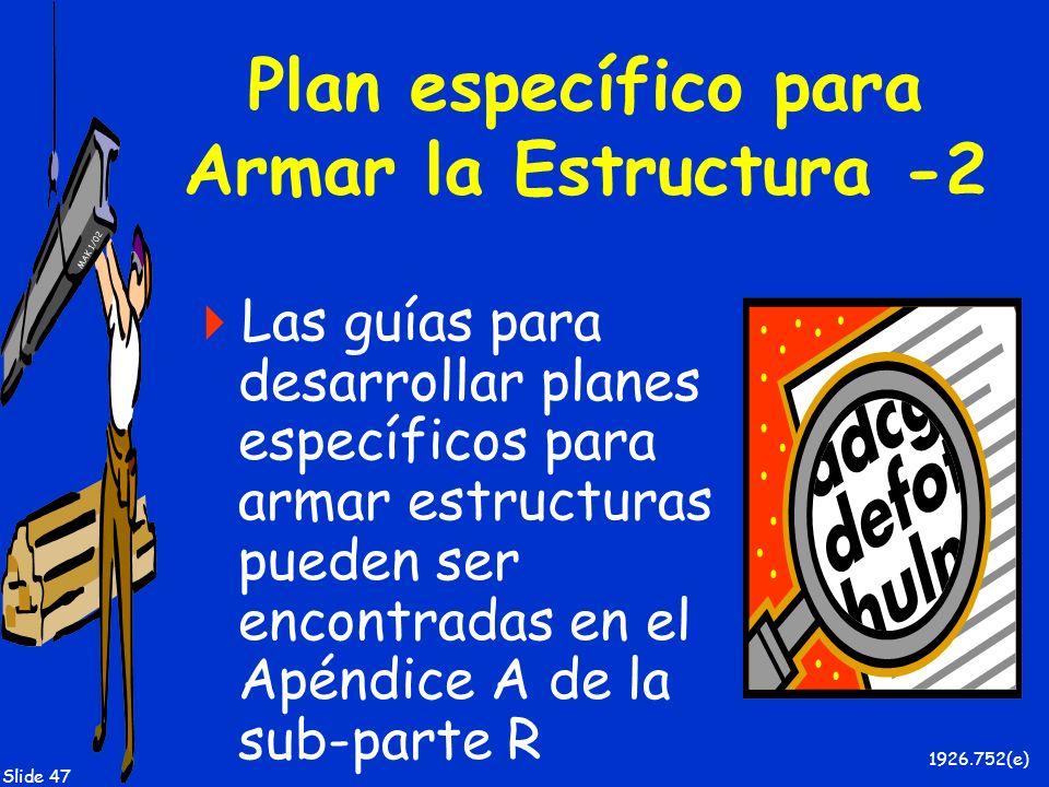 Plan específico para Armar la Estructura -2