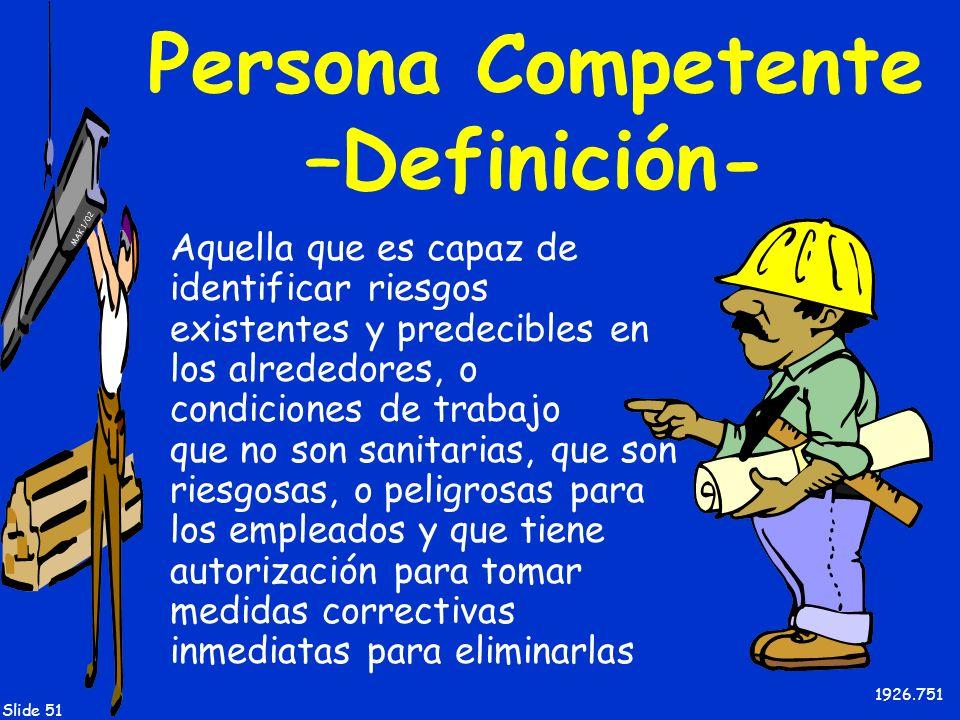 Persona Competente –Definición-