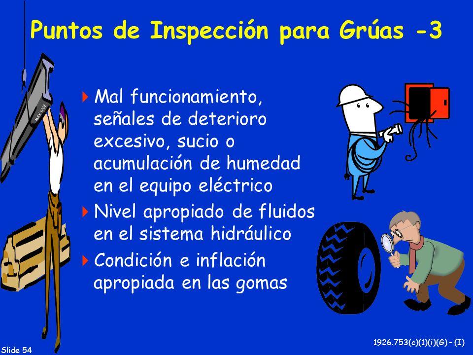 Puntos de Inspección para Grúas -3