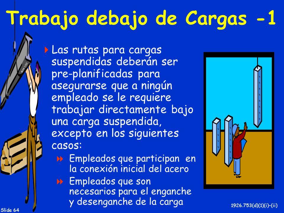 Trabajo debajo de Cargas -1