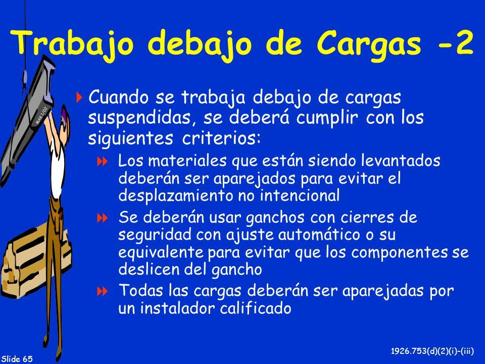 Trabajo debajo de Cargas -2