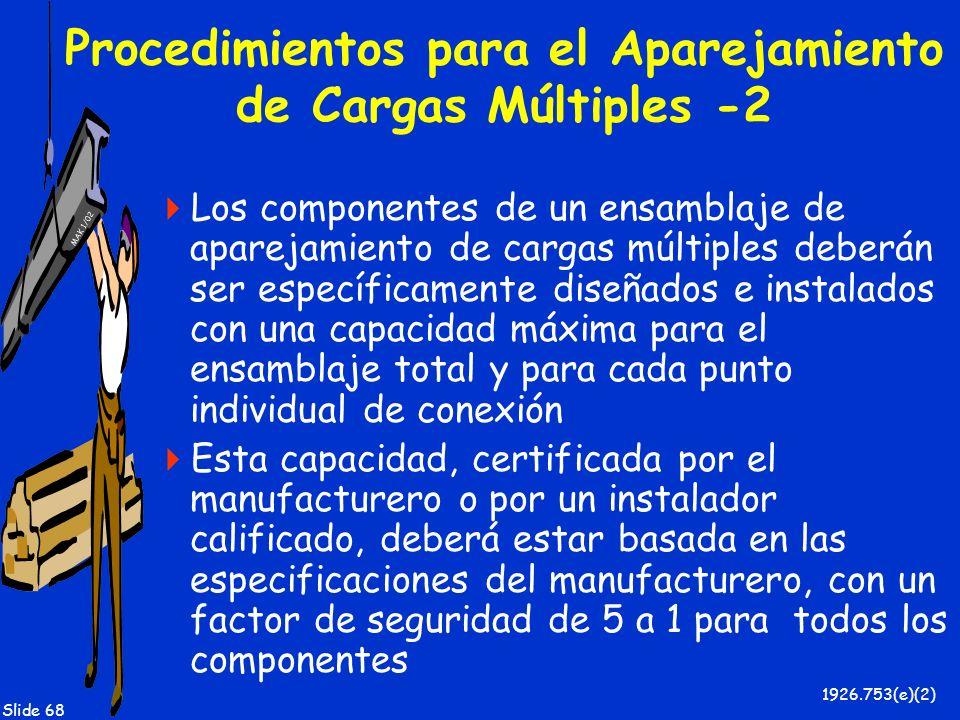 Procedimientos para el Aparejamiento de Cargas Múltiples -2