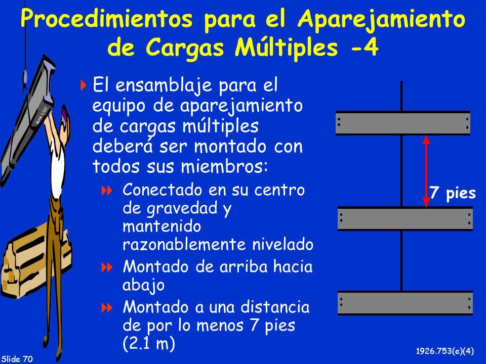 Procedimientos para el Aparejamiento de Cargas Múltiples -4