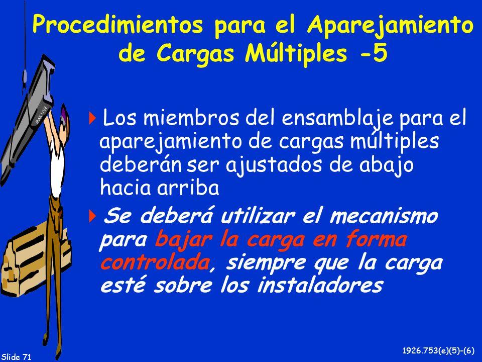 Procedimientos para el Aparejamiento de Cargas Múltiples -5
