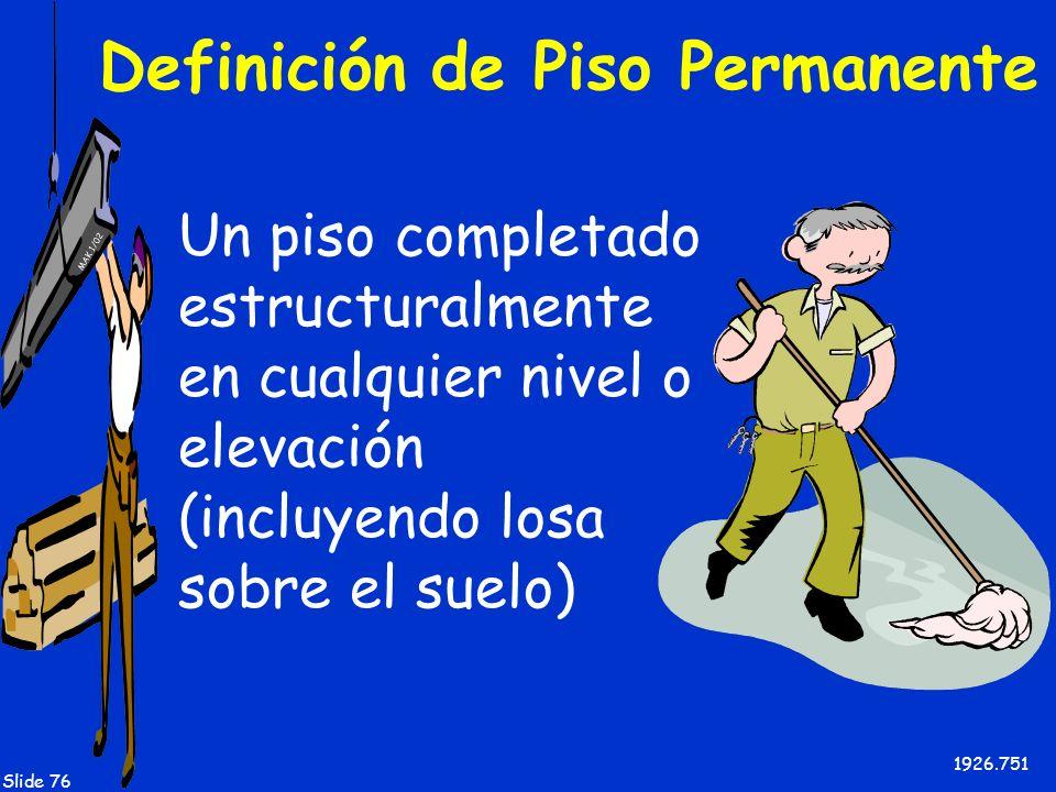 Definición de Piso Permanente
