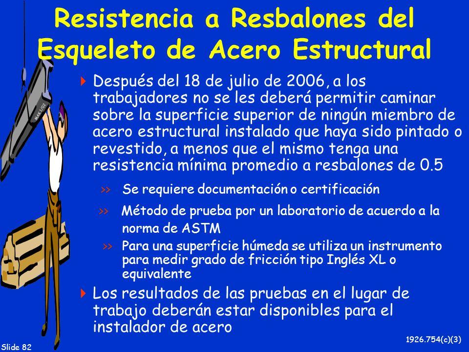 Resistencia a Resbalones del Esqueleto de Acero Estructural