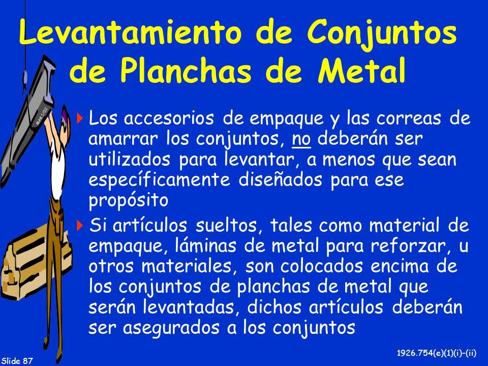 Levantamiento de Conjuntos de Planchas de Metal