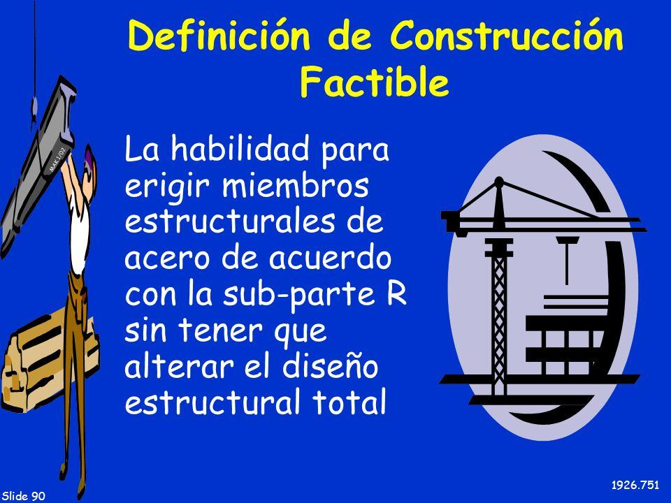 Definición de Construcción Factible