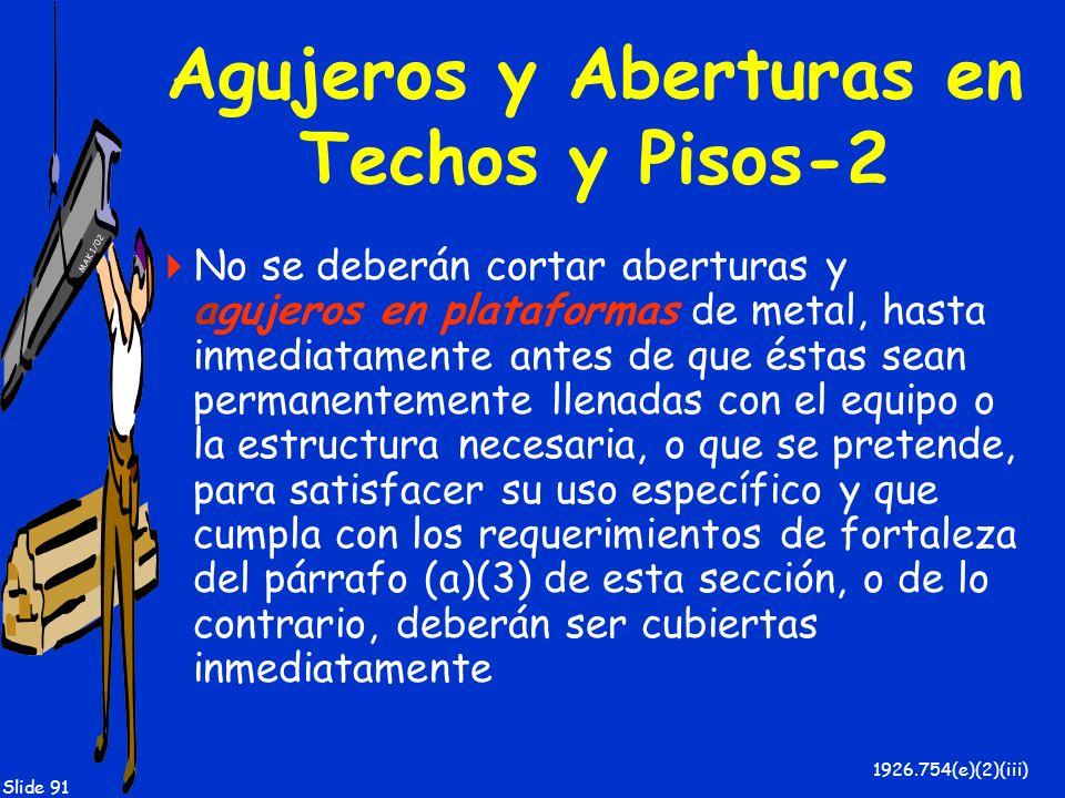 Agujeros y Aberturas en Techos y Pisos-2