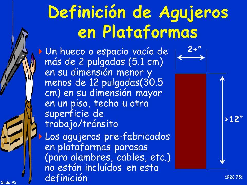 Definición de Agujeros en Plataformas