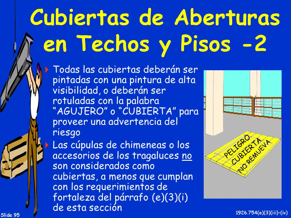 Cubiertas de Aberturas en Techos y Pisos -2