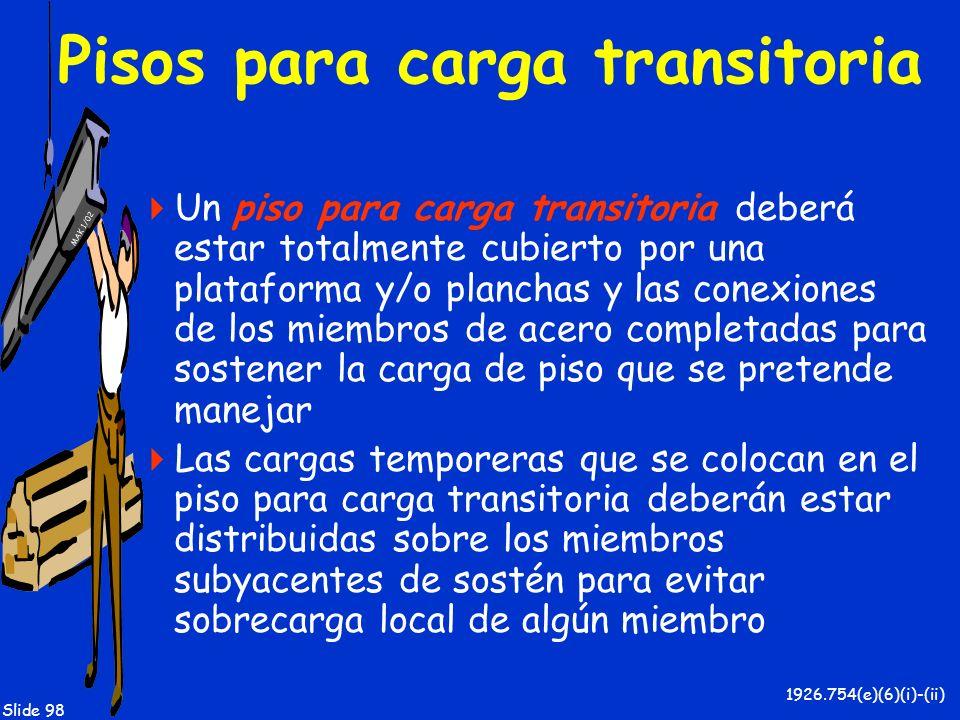Pisos para carga transitoria