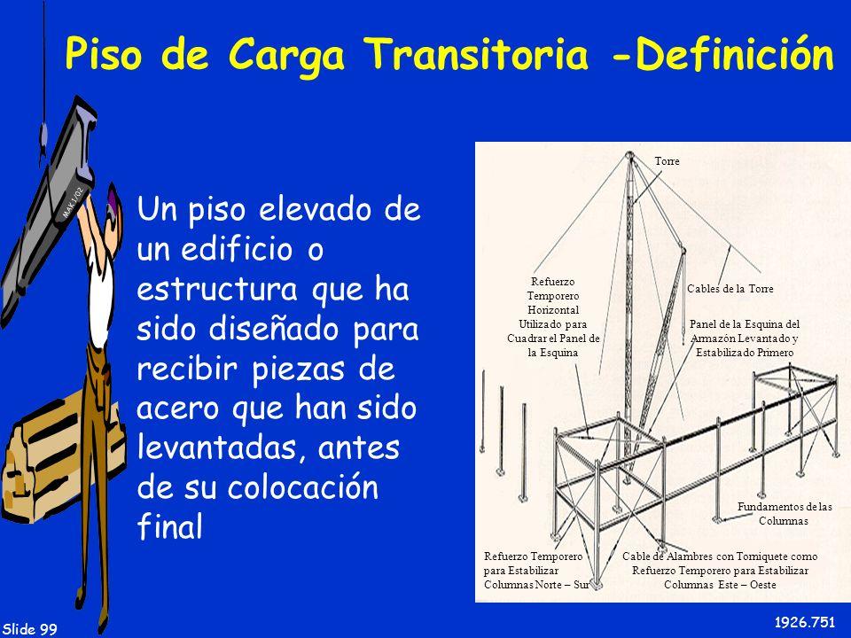 Piso de Carga Transitoria -Definición