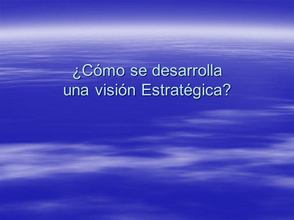 ¿Cómo se desarrolla una visión Estratégica
