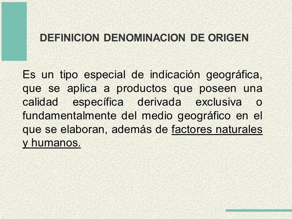 DEFINICION DENOMINACION DE ORIGEN
