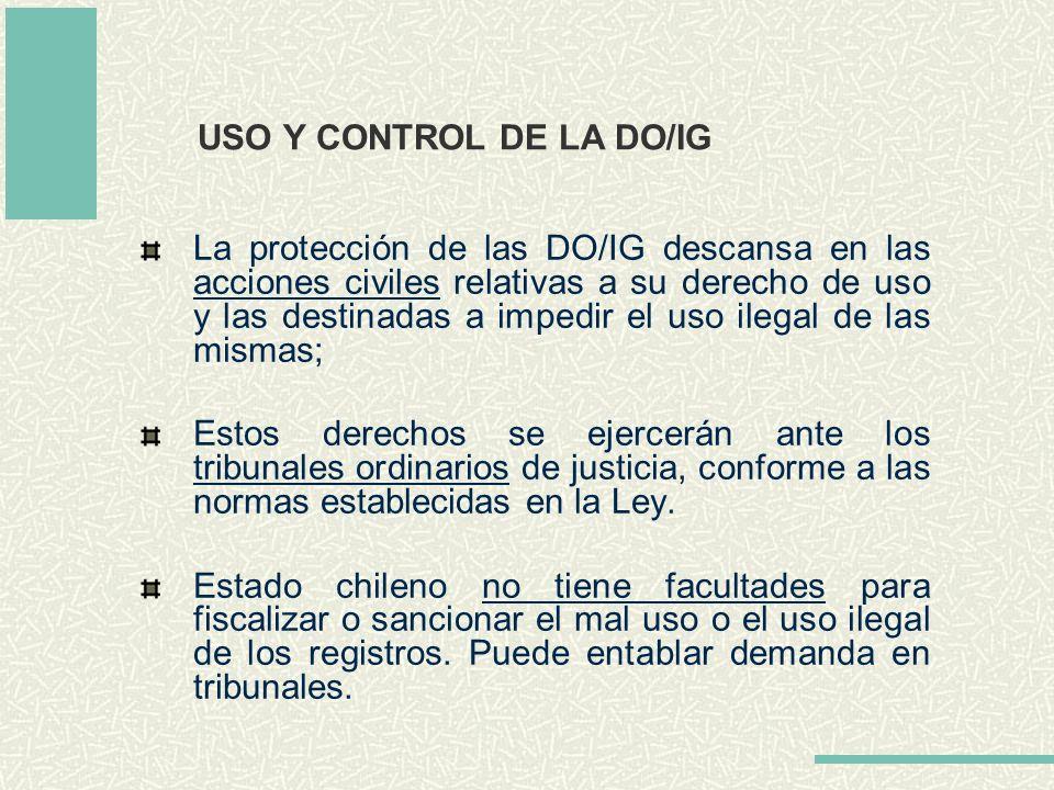 USO Y CONTROL DE LA DO/IG