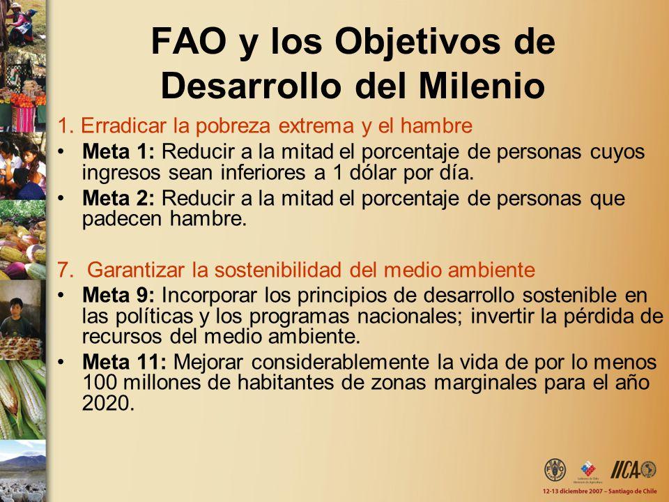 FAO y los Objetivos de Desarrollo del Milenio